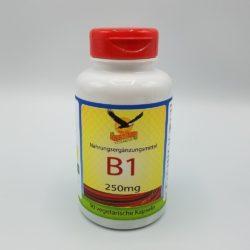 Dose mit 90 Stk. Vitamin B1 250mg Kapseln