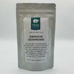 Packung mit 70g sibirischen Zedernüssen