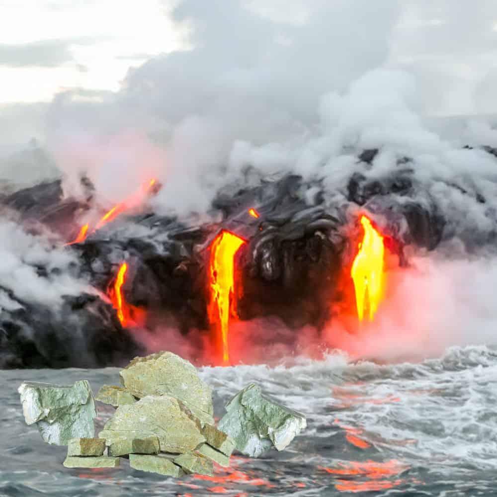 Bild von einem ausbrechenden Vulkan