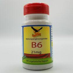 Dose mit 100 Kapseln Vitamin B6 21mg