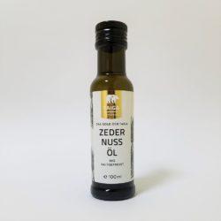 Glasflasche mit 100ml Zedernussöl