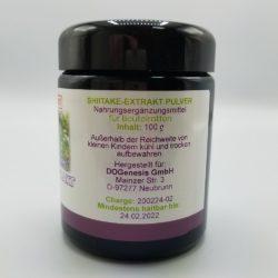 Seitenansicht Shiitake-Extrakt Pulver für Beutelratten