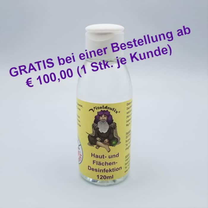 Flasche mit 120ml Desinfektionsmittel