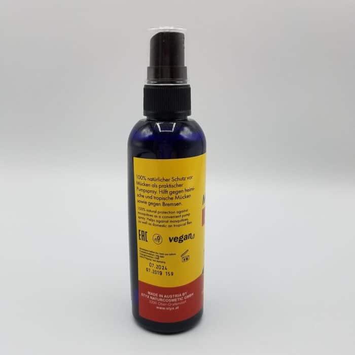 Rückansicht Moskito Stop Spray