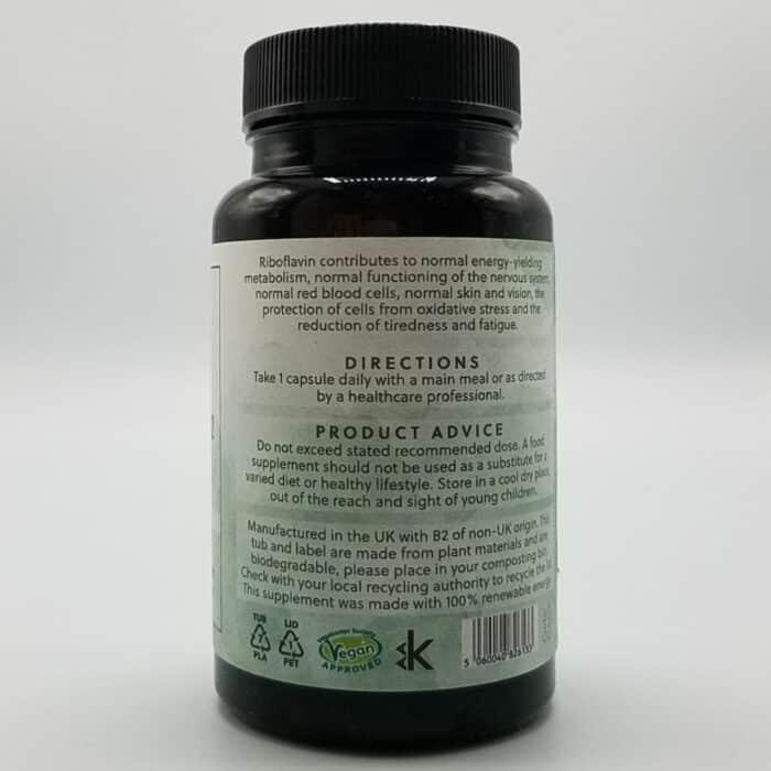 Seitenansicht Vitamin B2 Kapseln