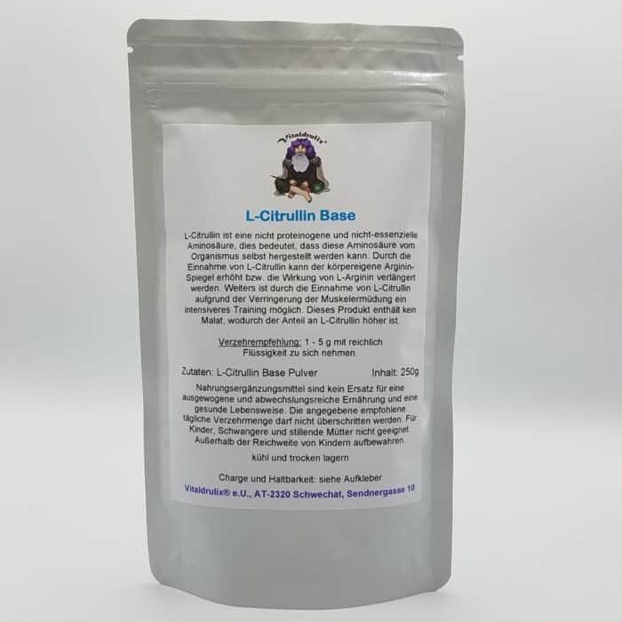 Paket mit 100g L-Citrullin Base Pulver