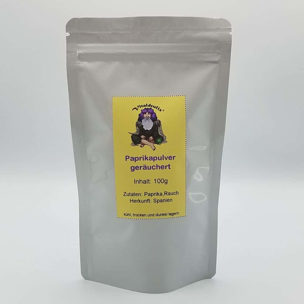 Beutel mit 100g geräucherten Paprikapulver